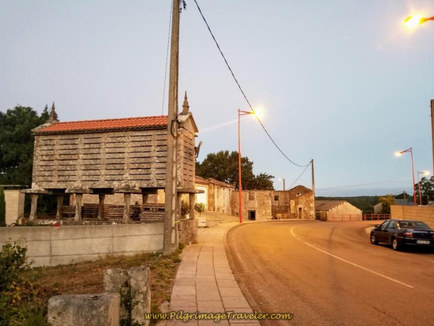 Walking Through Dumbría in Early Morning Light