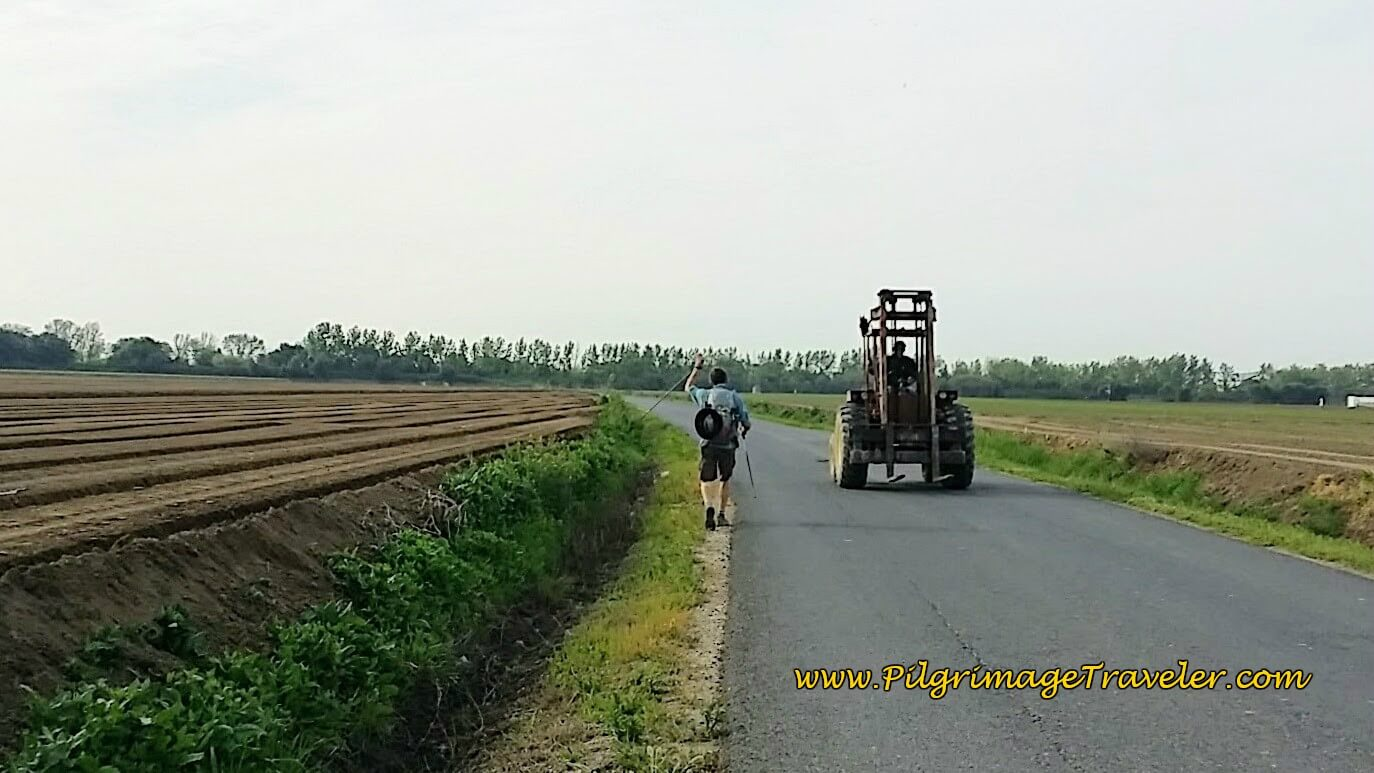 Rich Waves to a Farmer as He Passes