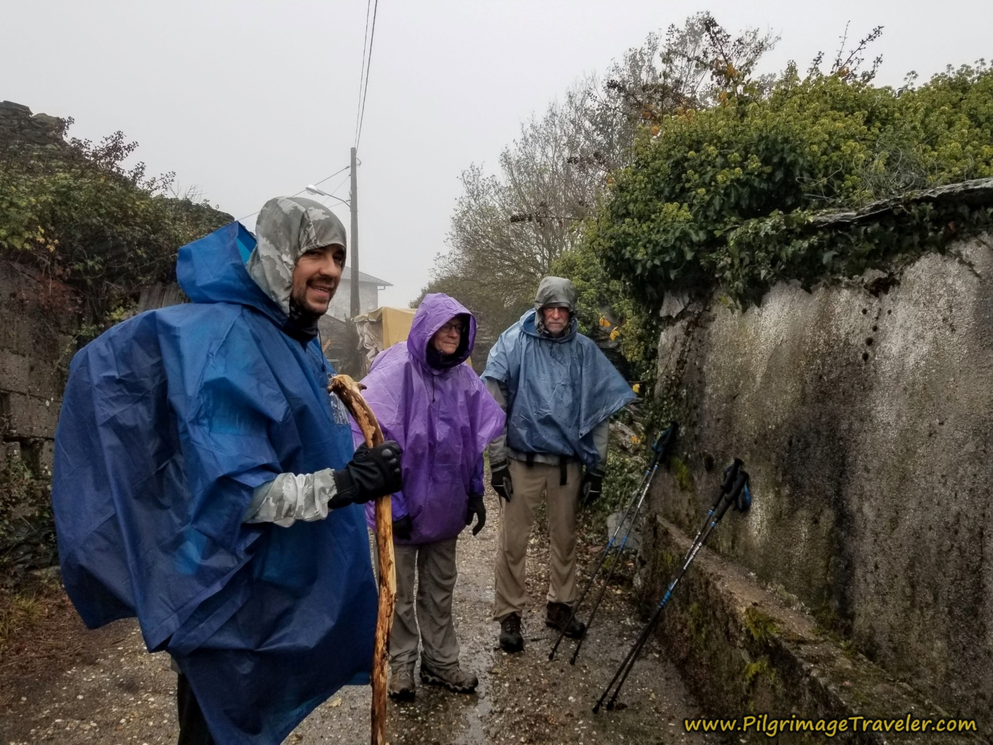Miguel, Nadine and Norm Attempt to Look Happy on the Camino Sanabrés from A Gudiña to A Venda da Capela