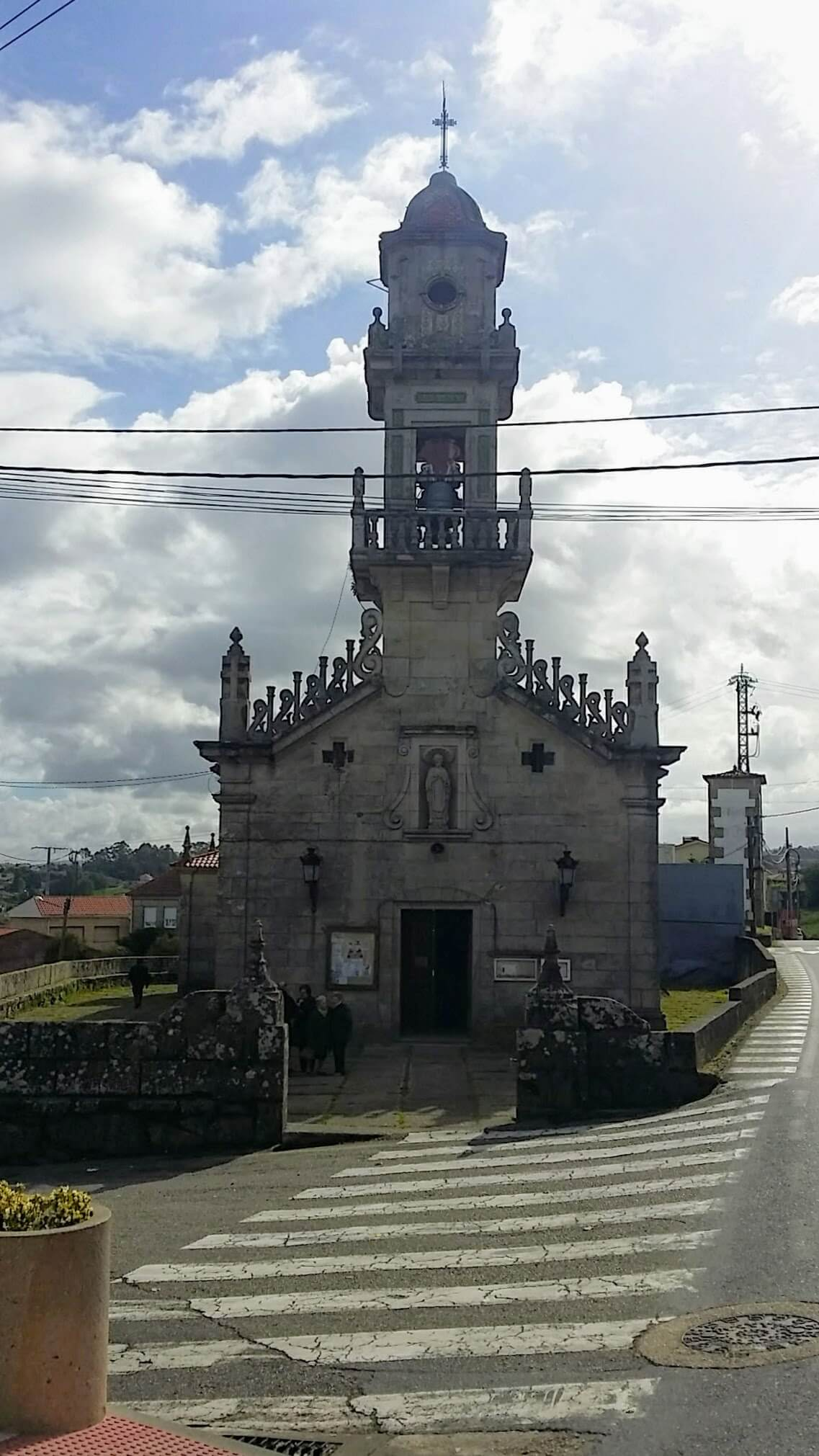 Turn Left at Iglesia de San Pedro de Matamá on day twenty-one of the Camino Portugués