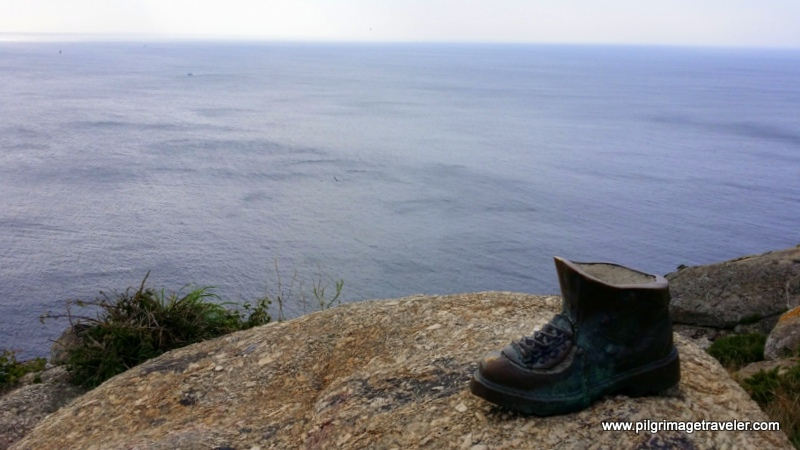 Bronze Boot Sculpture on Cabo Fisterra, Spain