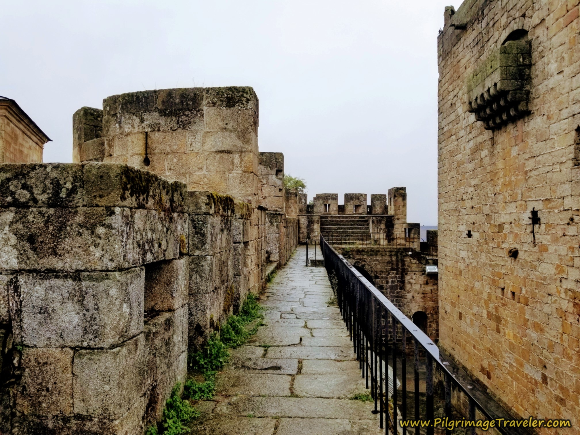 Walking on the Rampart Walls, Puebla de Sanabria Castle