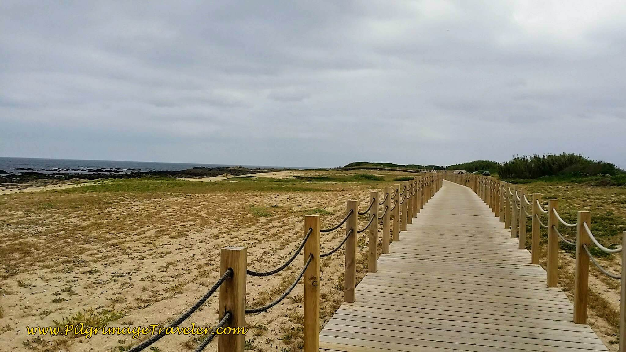 Second Boardwalk System at the Praia de Quião on day sixteen of the Camino Portugués on the Coastal Route