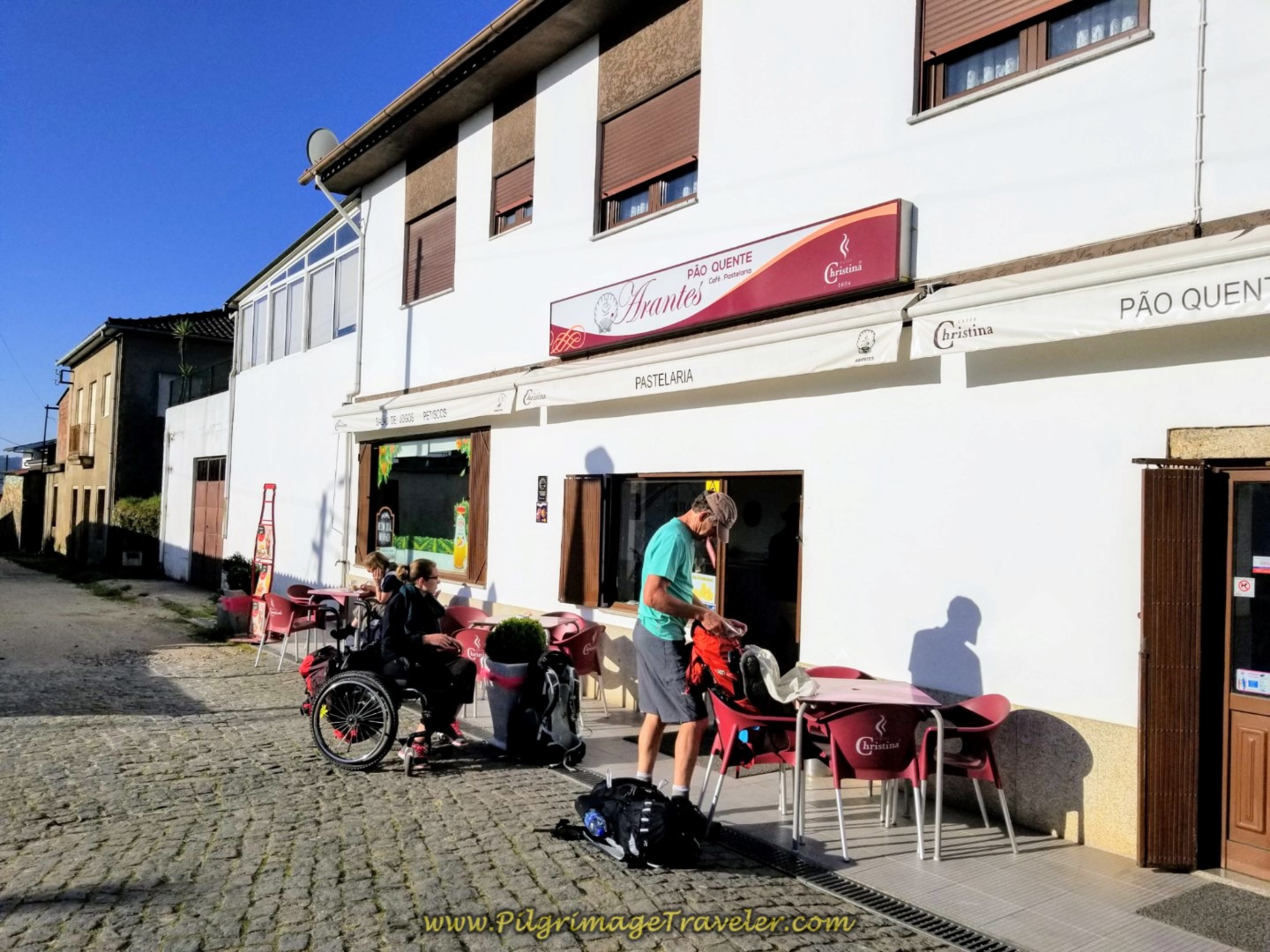 Café con Leite at the Café Arantes in Lijó on day seventeen on the Central Route of the Camino Portugués