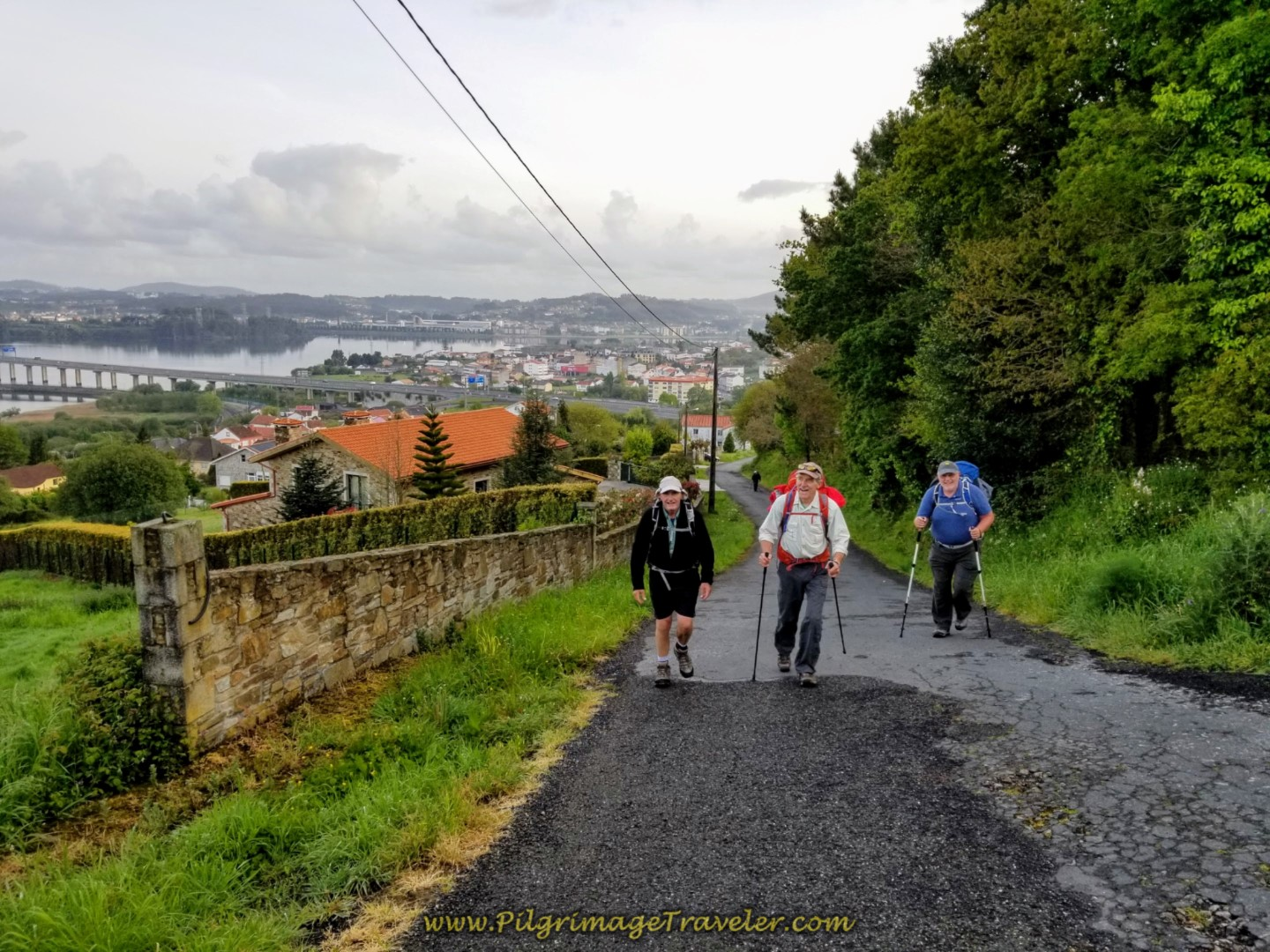 Nearing the Top in Silva on day two of the Camino Inglés