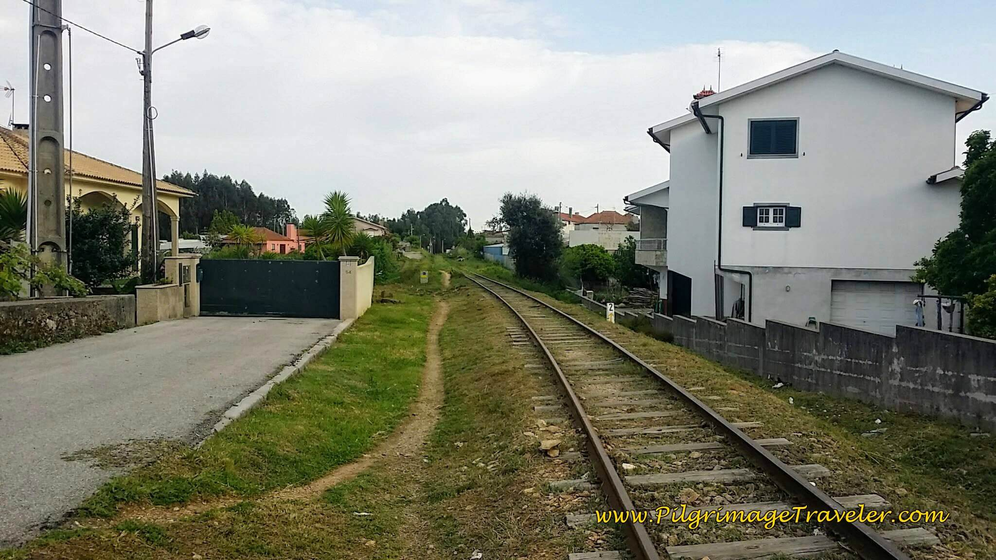 Path Along the Railroad Track on day thirteen on the Camino Portugués