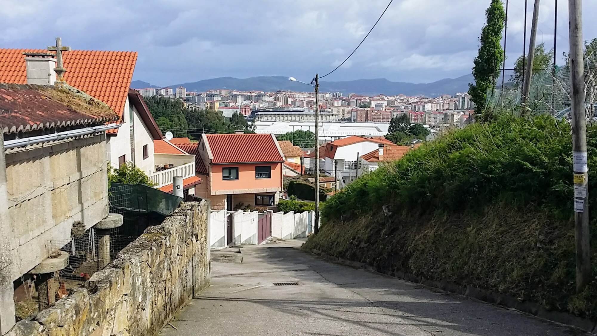 Hórreo and Factories Down the Camiño Real in Vigo, Spain on day twenty-one of Portuguese Way