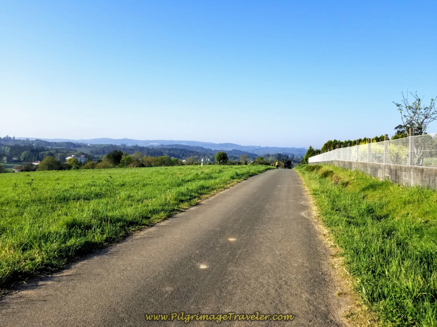 Open Road Towards Lameira on day eight of the Camino Inglés