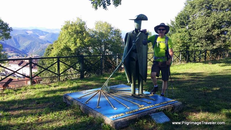 Rich at Pilgrim Sundial Landmark, San Roque in Asturias, Spain