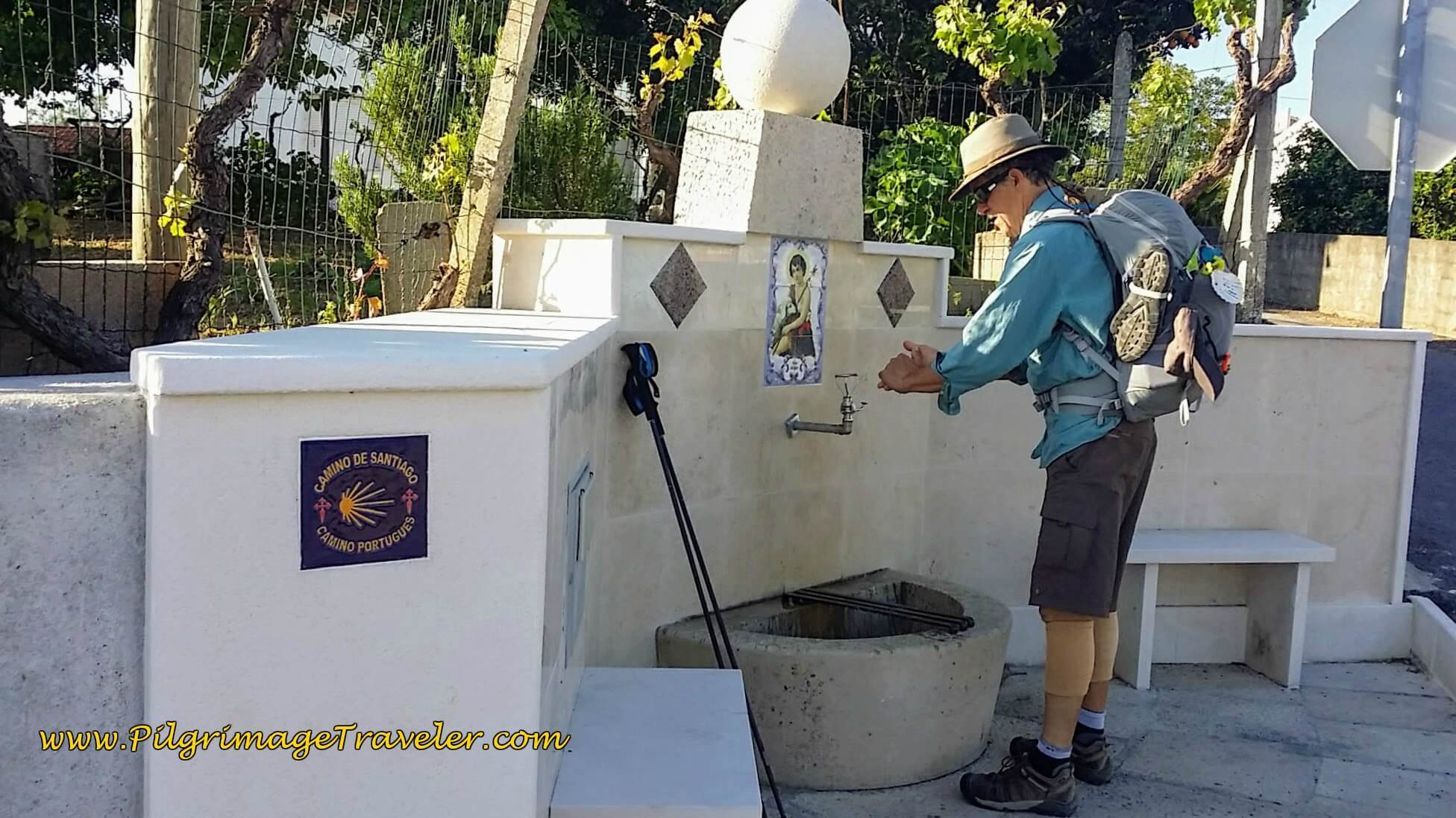 Community Fountain in Casais, on the Portuguese Camino