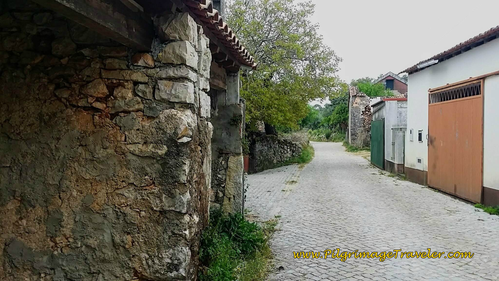 Walking Thru Venda do Negro on Day Seven of the Camino Portugués