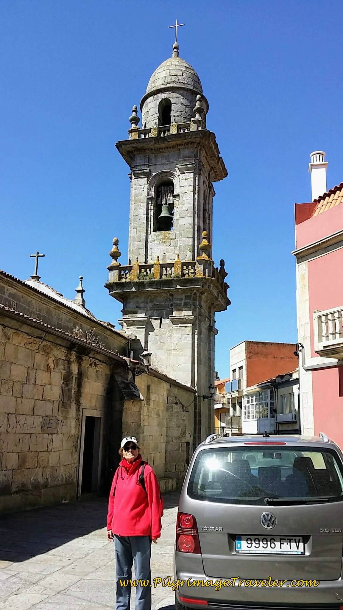 Glyvia at the Parroquia de Santa María on Day Nineteen of the Portuguese Way