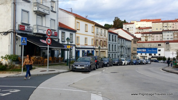 On the Rúa das Fontiñas, Camino Frances