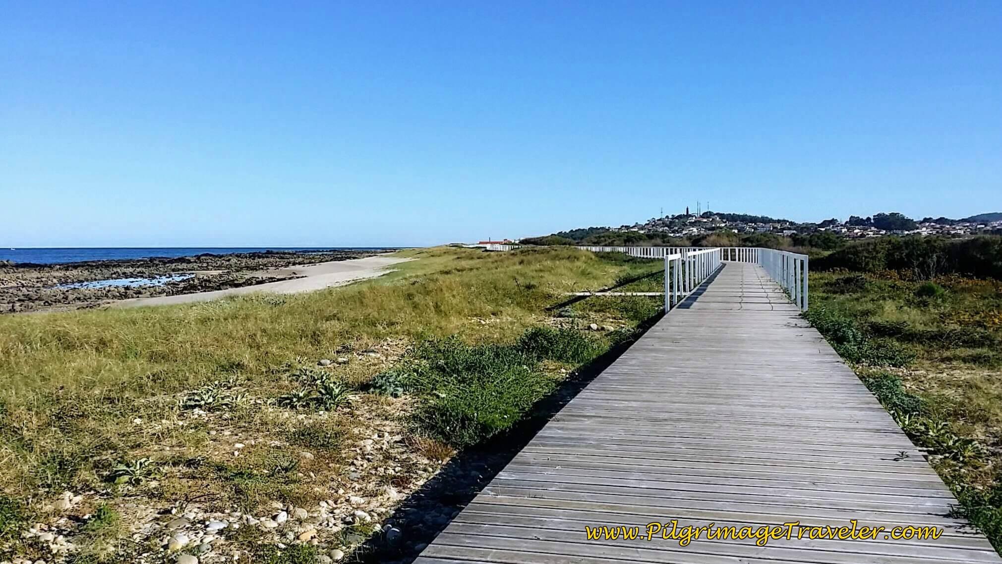 Boardwalk to Praia do Canto Marinho on day eighteen of the Camino Portugués on the Senda Litoral