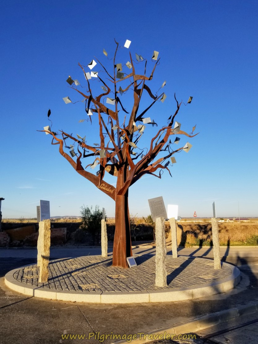 Memory Tree in El Oso, Avila, on day two of the Camino Teresiano