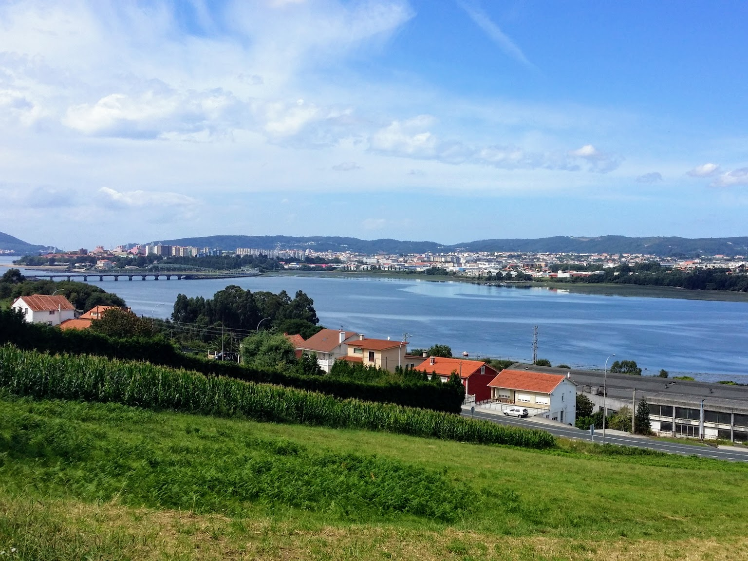 Lofty View of Ferrol Estuary on day two of the Camino Inglés