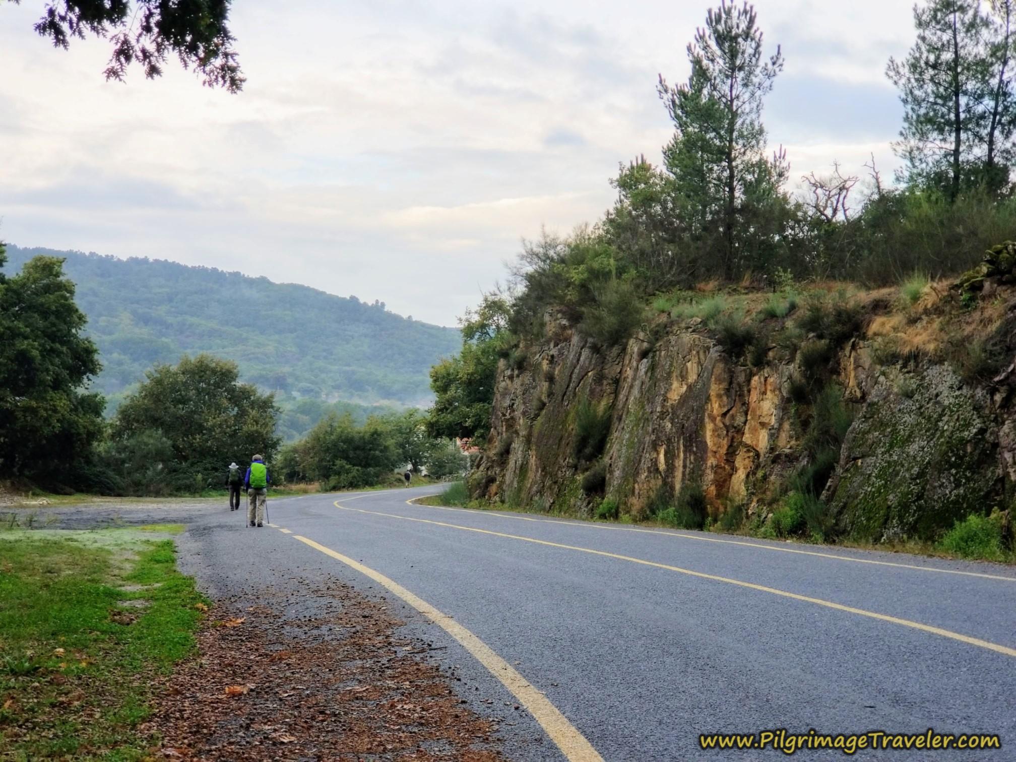 The Pavement Towards Ousende, Camino Sanabrés, Xunqueira de Ambía to Ourense