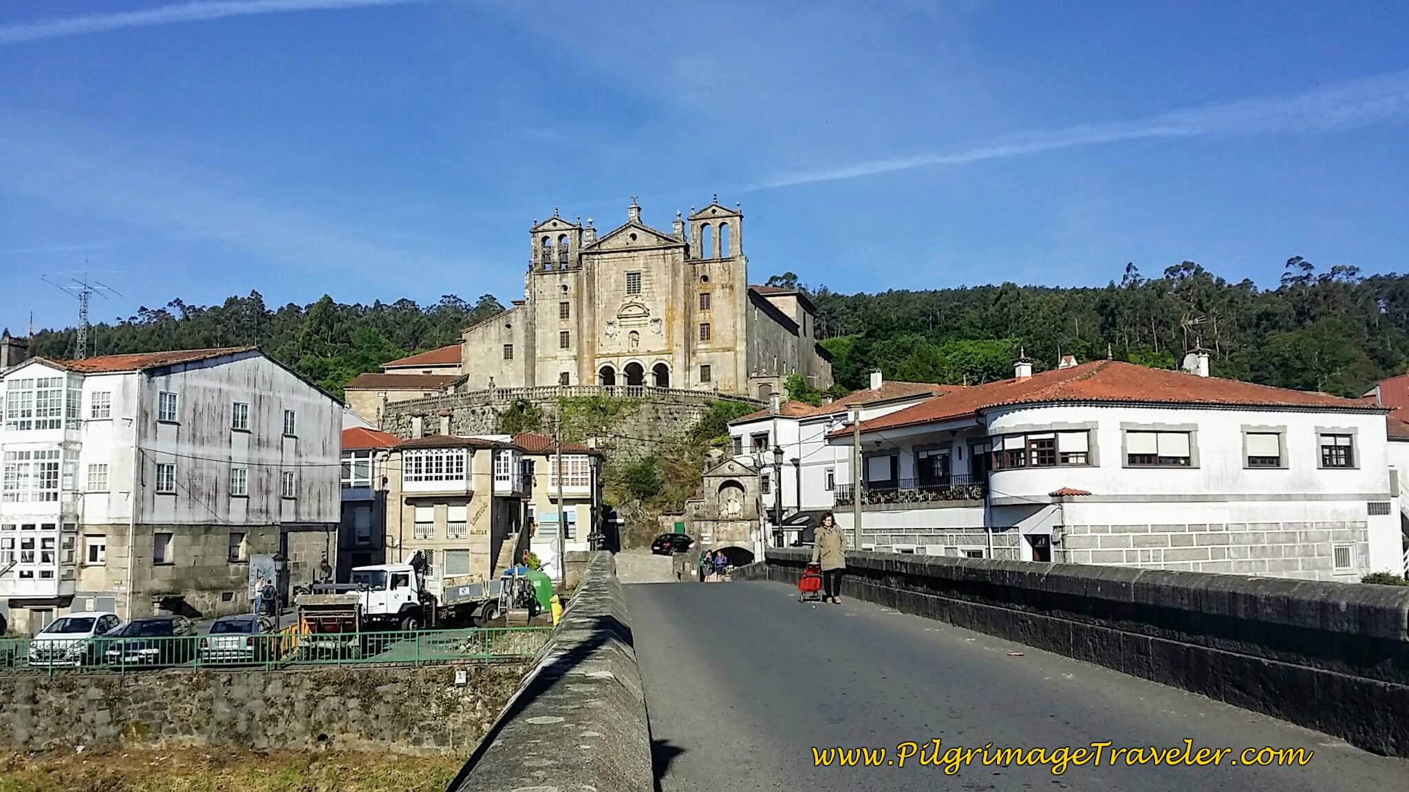 Convento do Carme and Bridge Across the River Sar in Padrón on Day Twenty-Four, Portuguese Way