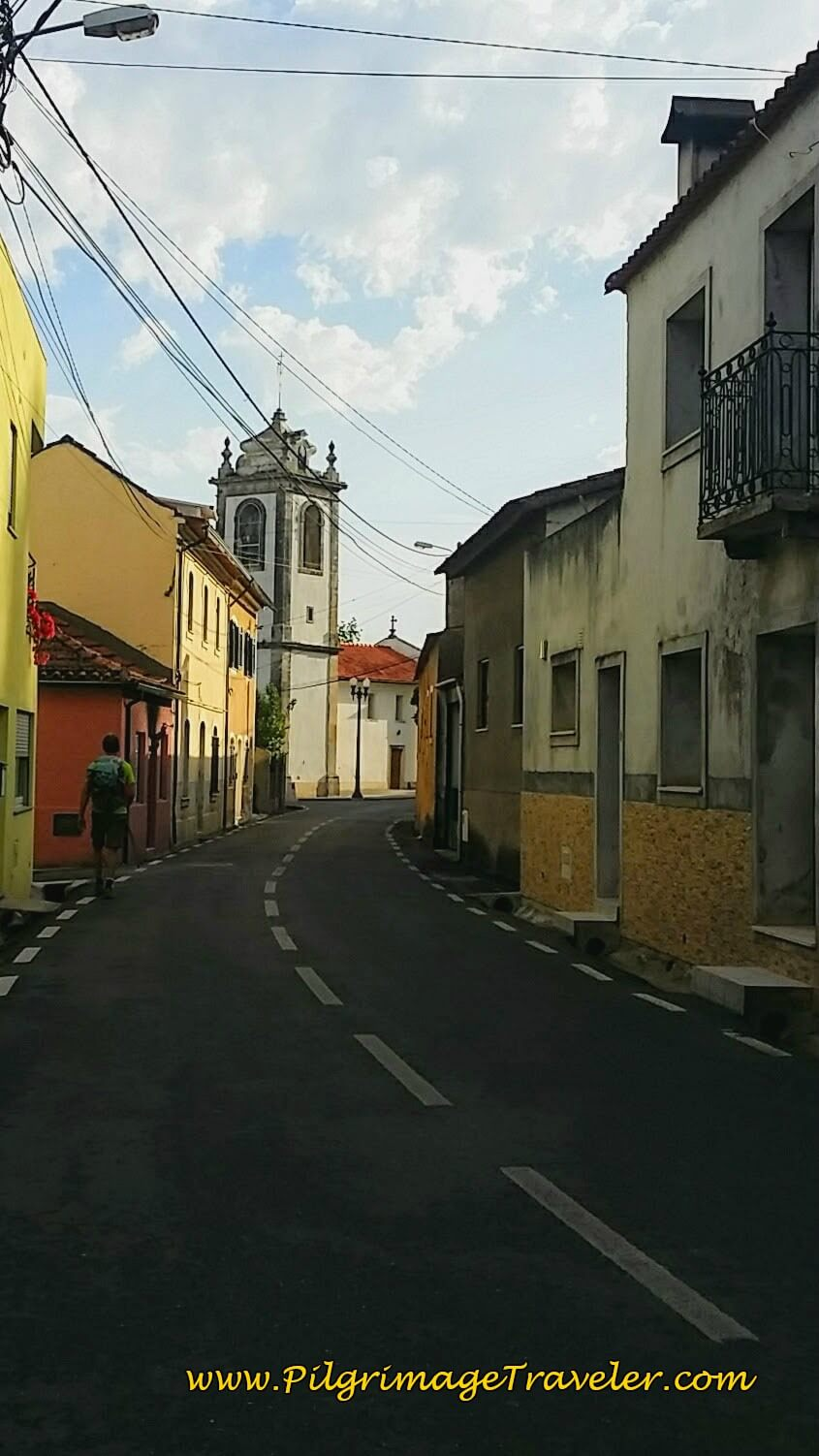 Approaching the Igreja Paroquial de Sáo Paio in Anadia on day eleven of the Portuguese Camino