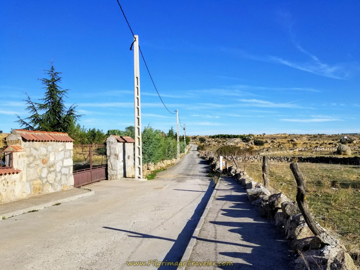 The Road Leaving Narrillos de San Leonardo
