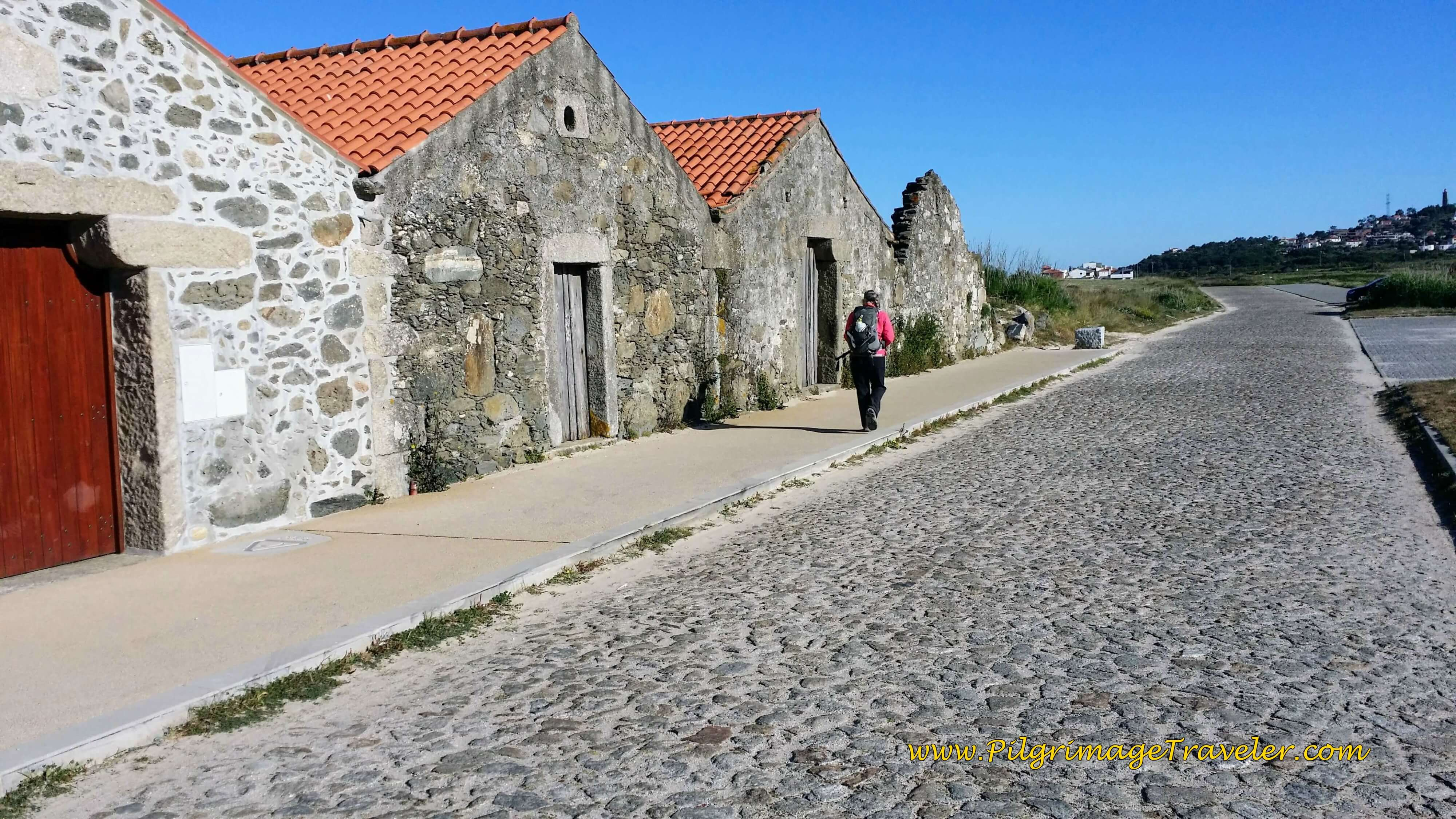 Ruined Row Houses of Parque on day eighteen of the Camino Portugués on the Senda Litoral