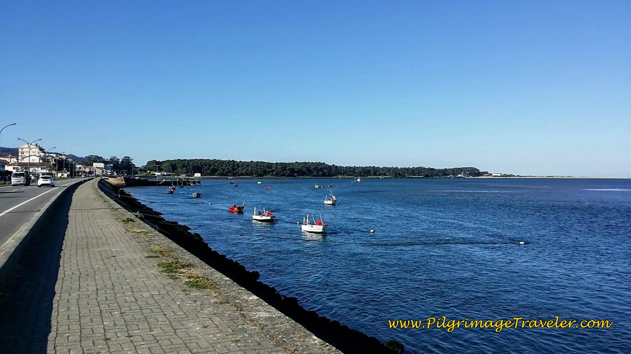 Along the Waterfront of the Minho River on the Avenida Doutor Dantas Carneiro on Day Nineteen, Camino Portugués
