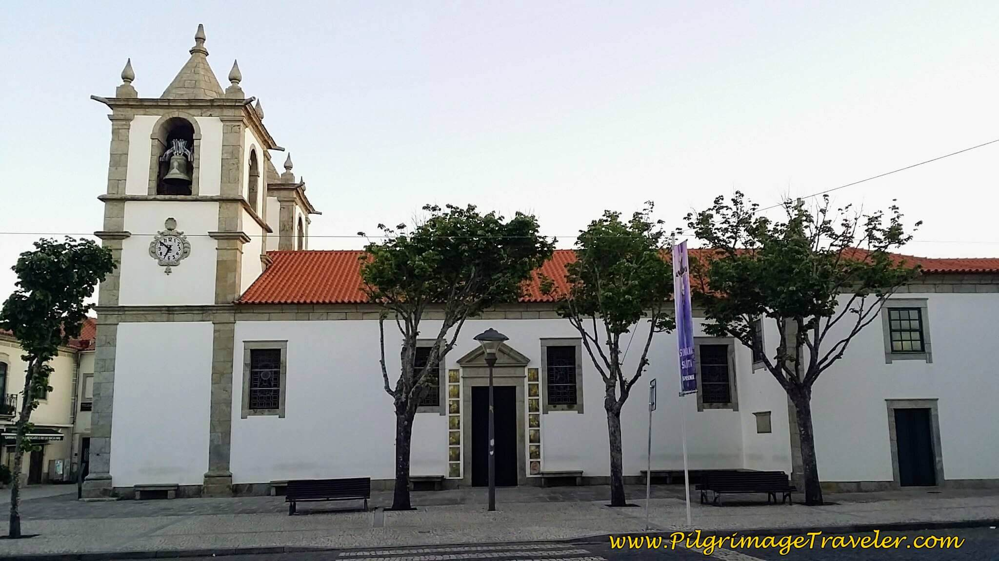 Walk in Front of the Igreja Matriz de Esposende on day seventeen of the Camino Portugués