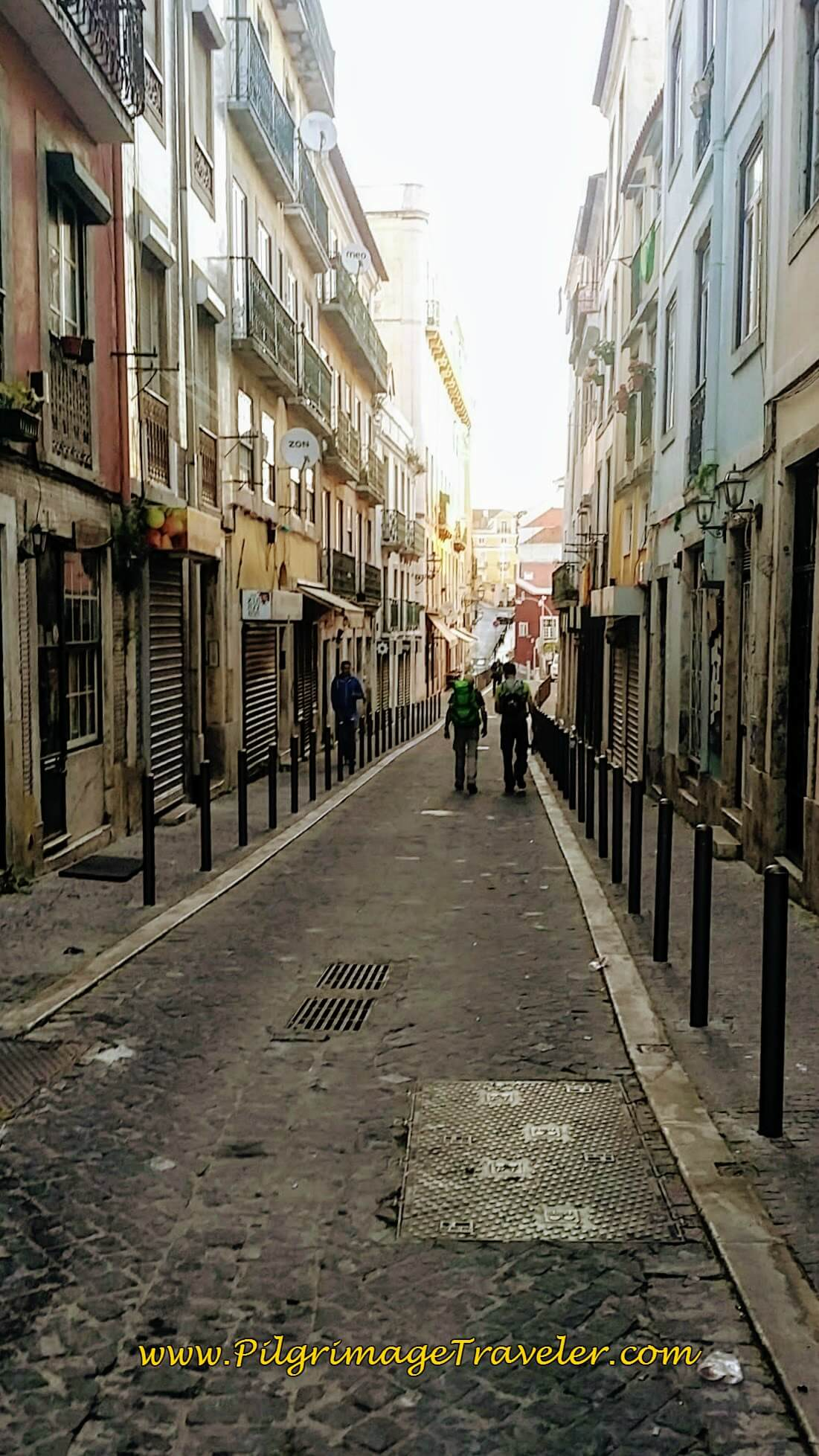 Rua dos Remédios, Alfama district in Lisbon, Portugal