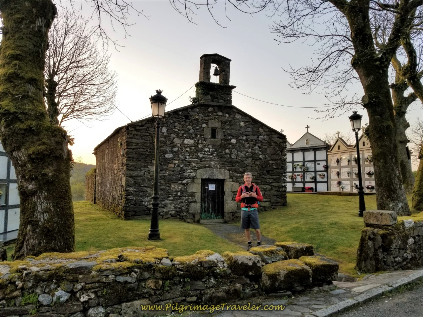 Historic Parish Church of Hospital de Bruma on day seven of the Camino Inglés
