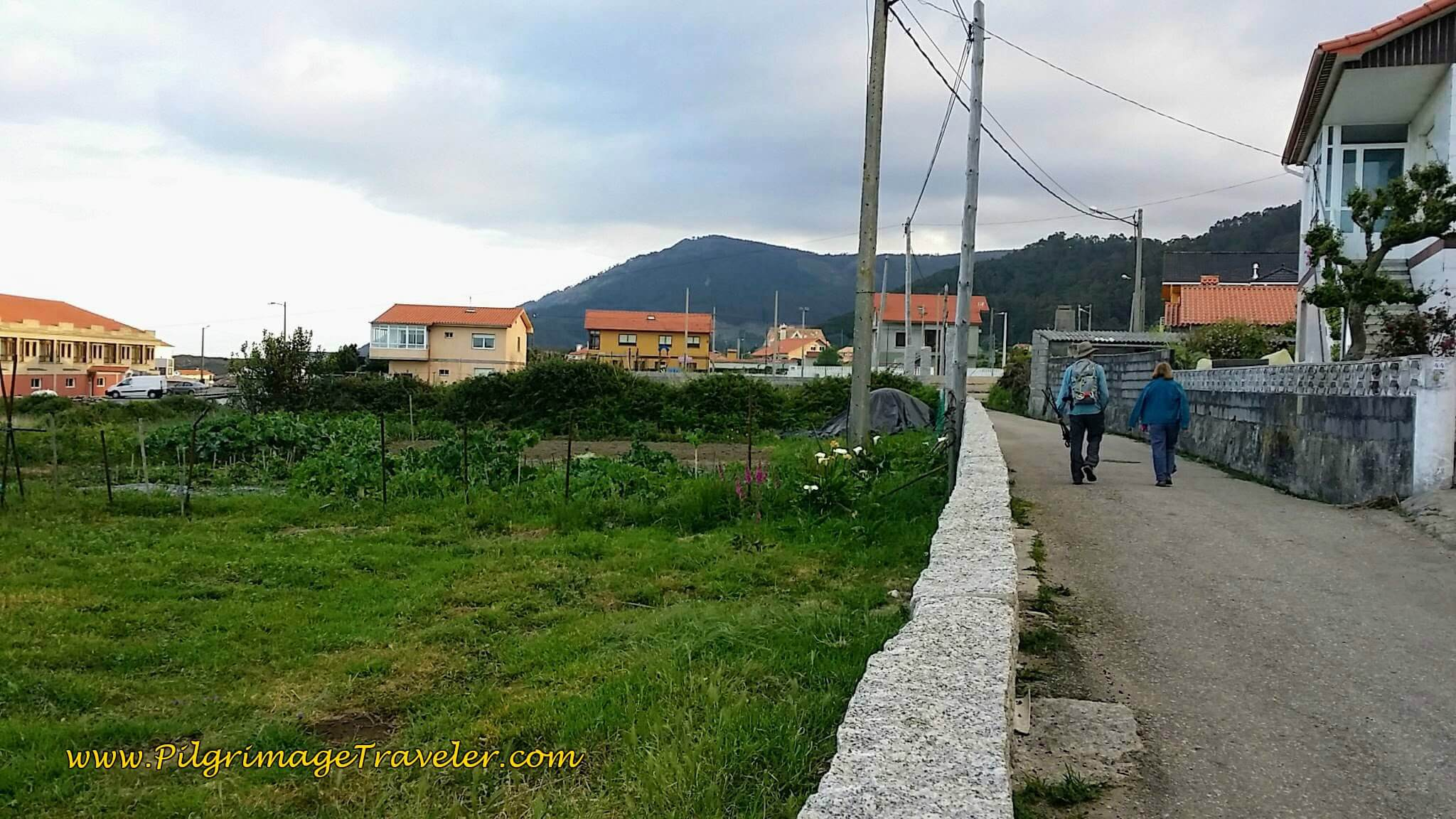 Starting Out on Quiet Road in Viladesuso on day twenty, Camino Portugués