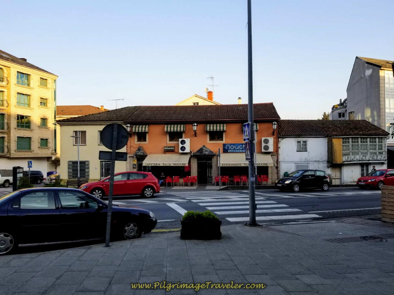 Turn Left at the Restaurant Onto the N-550 on day eight of the Camino Inglés