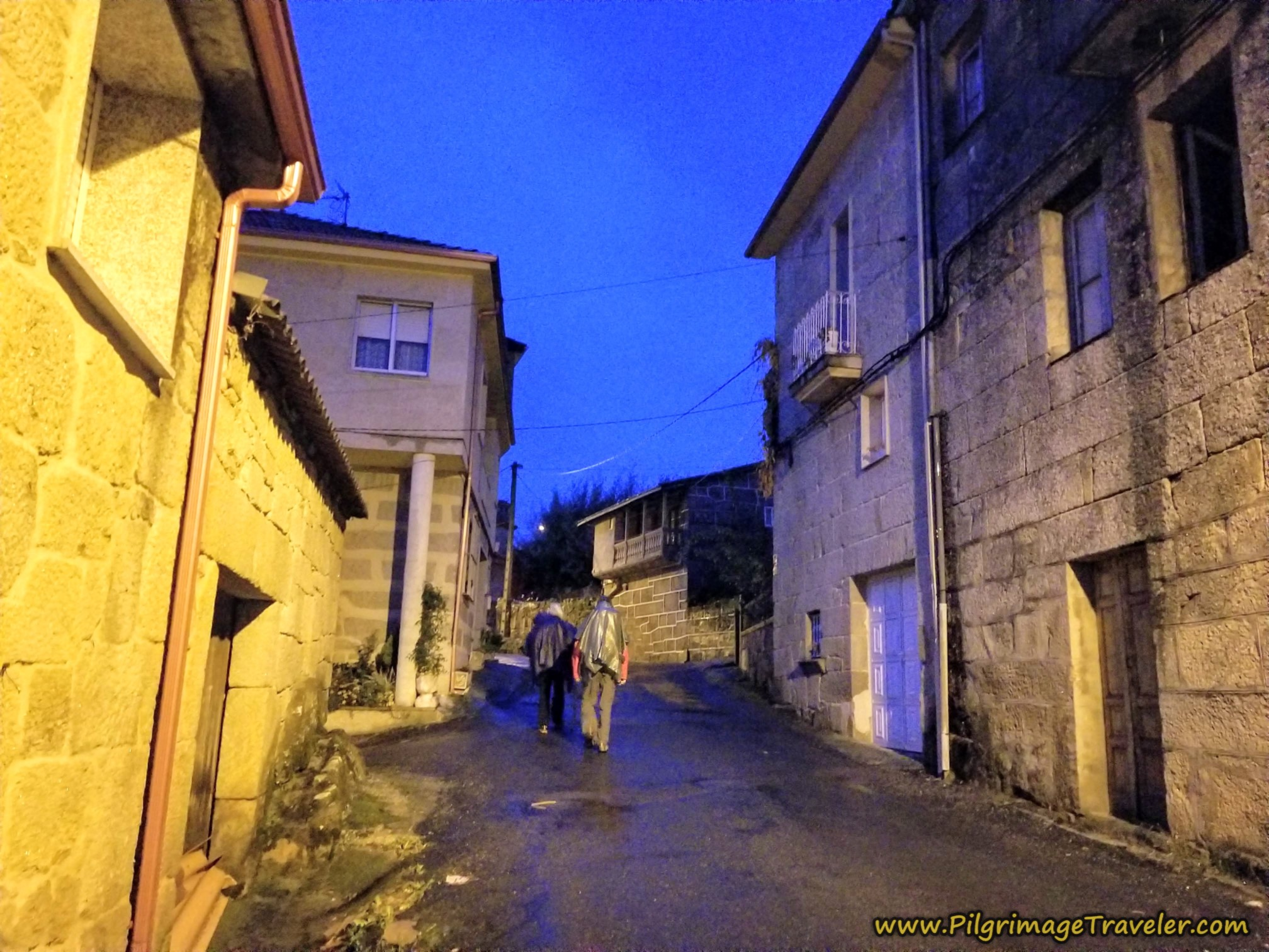 Walking Through Vilar de Barrio at Dawn