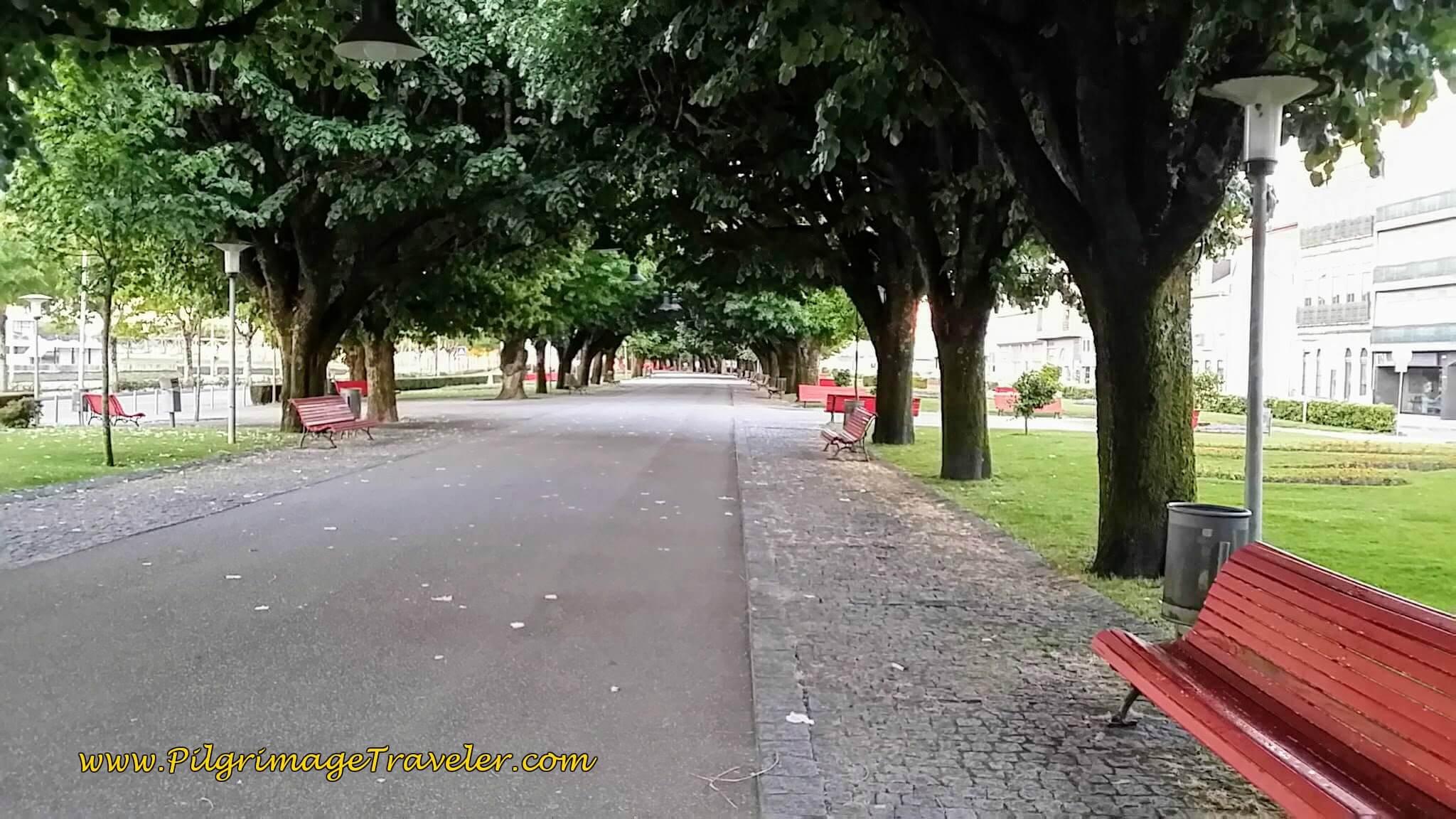 Jardim da Marginal, along the Limia River, Viana do Castelo on day eighteen of the Camino Portugués on the Senda Litoral