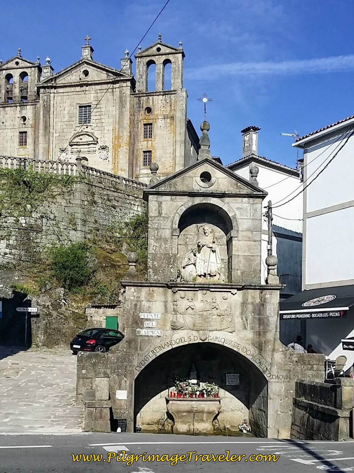 Fuente del Carmen in Padrón on Day Twenty-Four, Portuguese Way