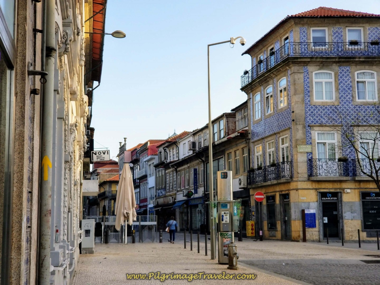 The Lovely Rua de Cedofeita Pedestrian Street in Porto on day fifteen on the Central Route of the Camino Portugués