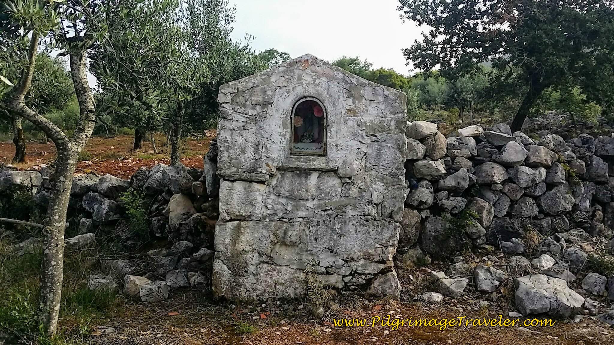 Roadside Shrine Near Casais Maduros on the Portuguese Camino