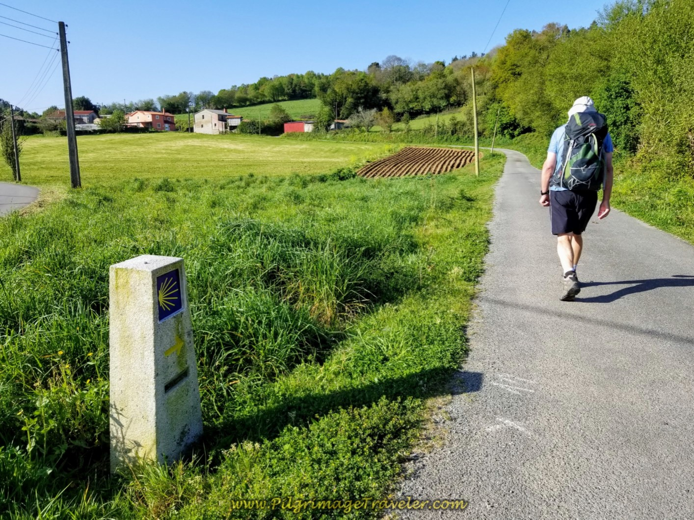 Rob En Route Towards Vao on day six of the Camino Inglés