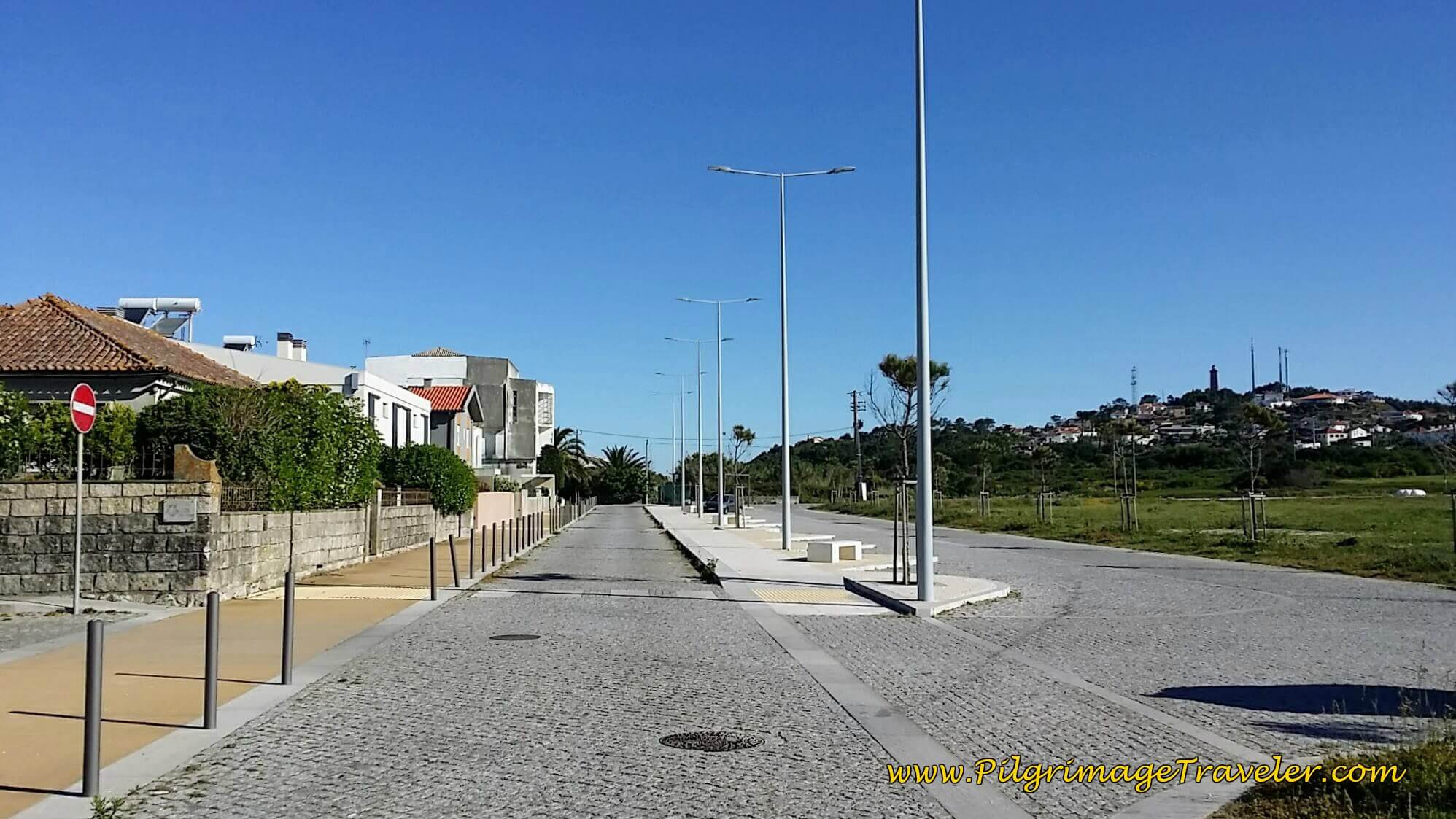 Walking Throught Carreço on day eighteen of the Camino Portugués on the Senda Litoral