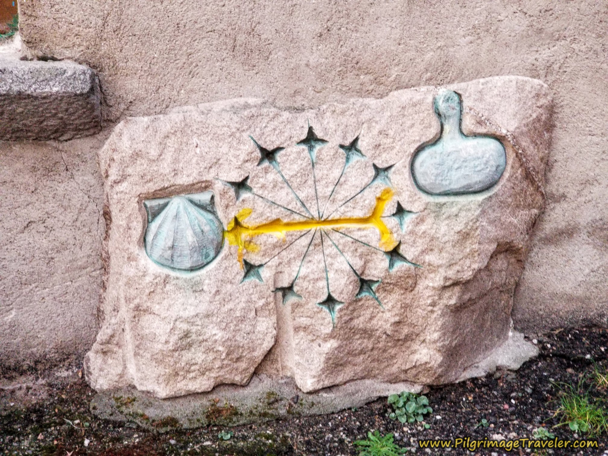 Special Carved Waymark on the Camino Sanabrés in Lubián