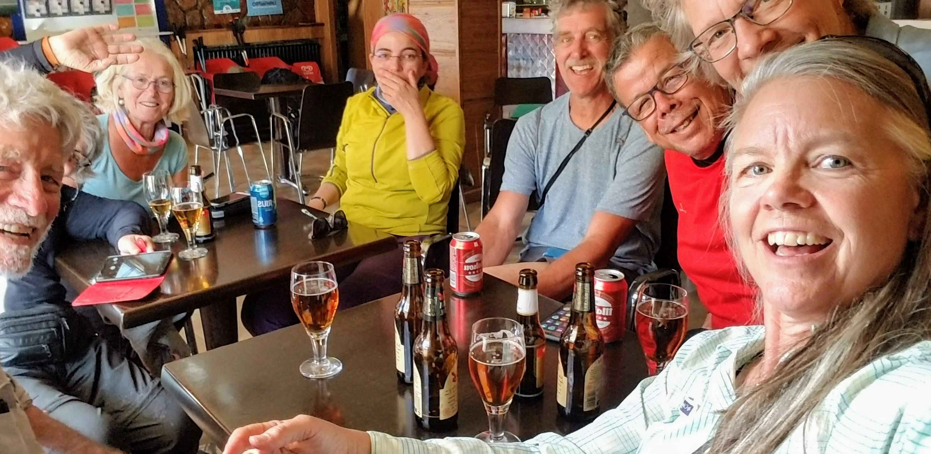 Goofy Selfie at the Bar Stop in Santa Marta de Tera