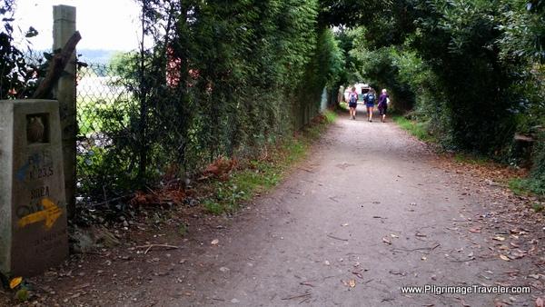 Walking toward A Brea on the Camino Frances