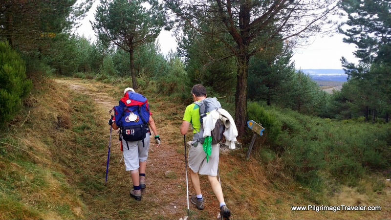 Glyvia and Rich take the Path with The Camino Primitivo Sign