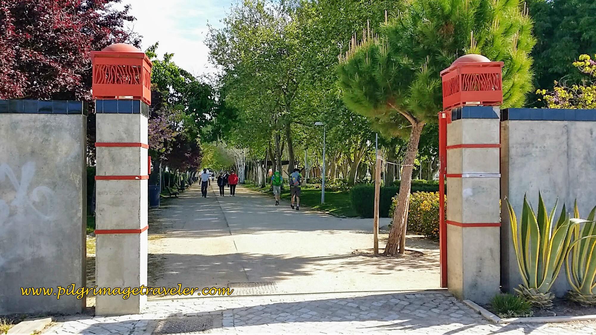 The Entry Gates of the Park Jardim Municipal Constantino Palha, Vila Franca de Xira, Portugal