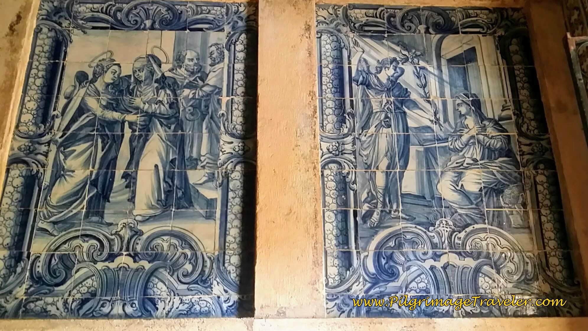 Azulejo Tile Murals inside Cloister, Convento de Cristo, Tomar