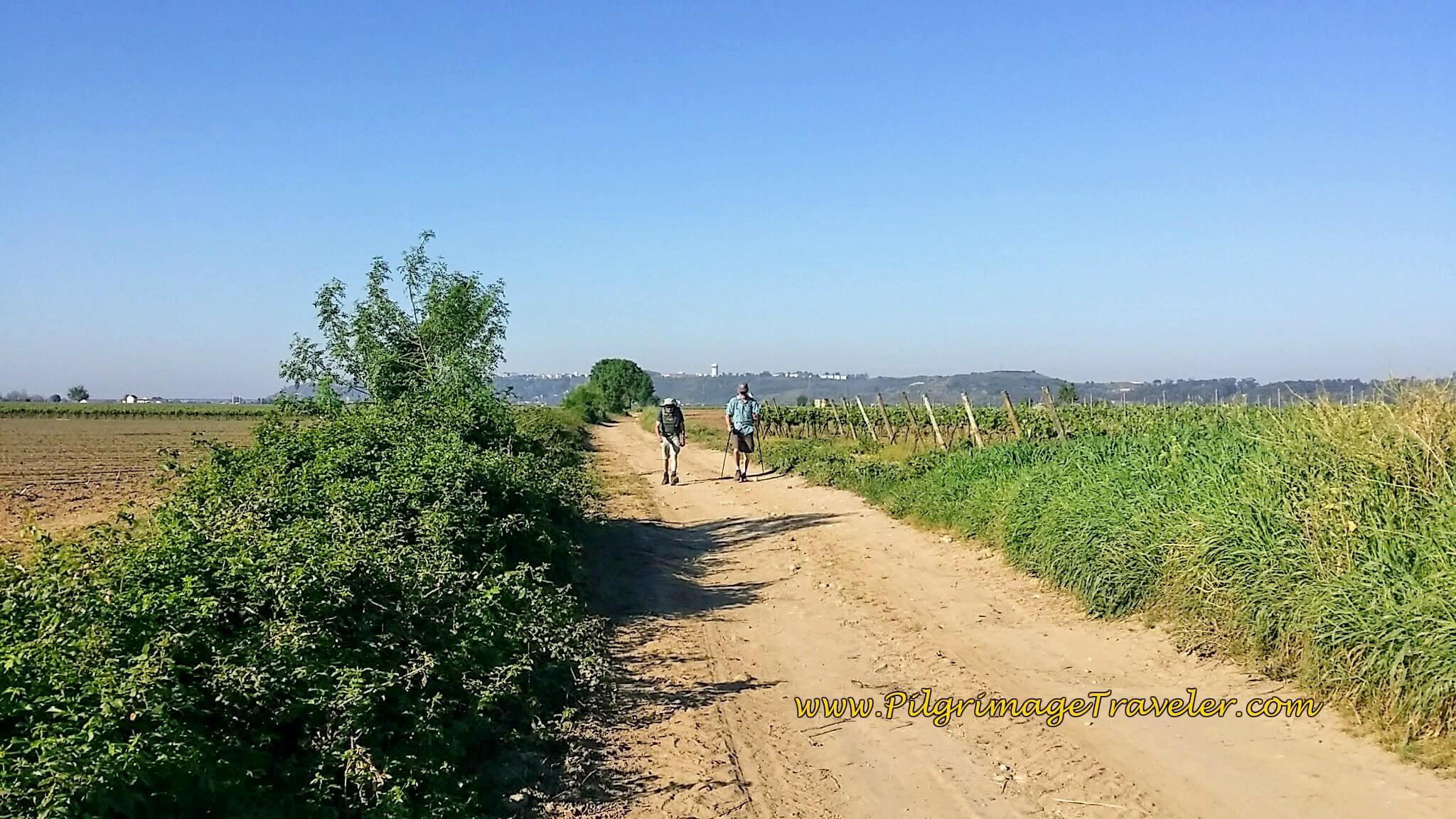 A look back at Santarém on the Camino de Santiago, Portugal