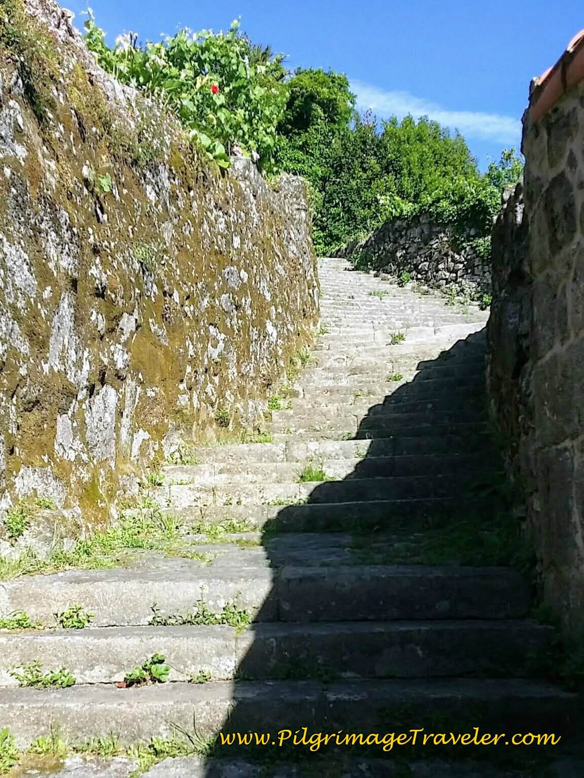 Stairway to Santiaguiño do Monte in Padrón on Day Twenty-Four, Portuguese Way