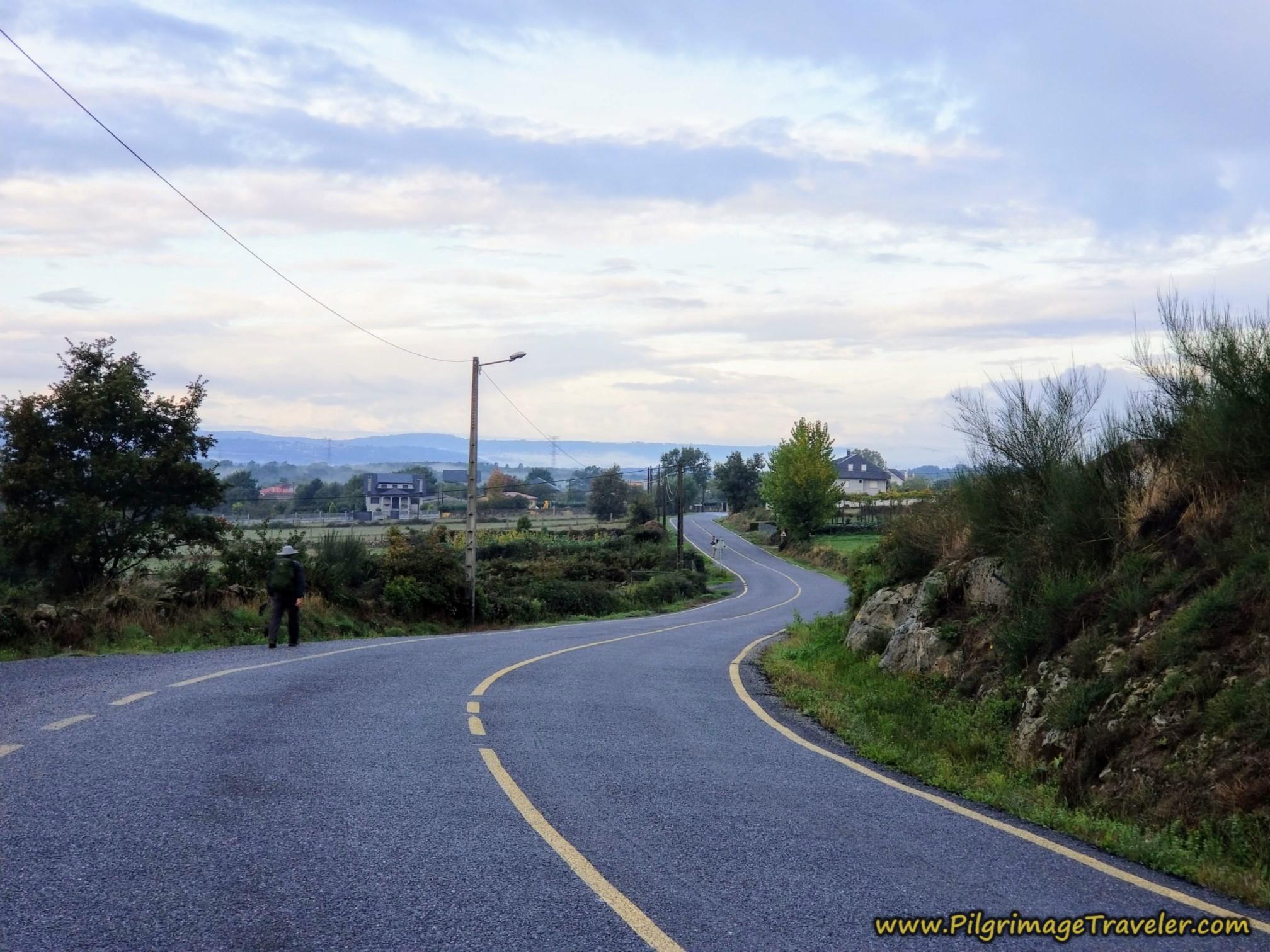 Strong Descent Towards Penelas, Camino Sanabrés, Xunqueira de Ambía to Ourense