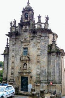 Igrexa de San Frutoso in Santiago de Compostela on day one of the Camino Finisterre