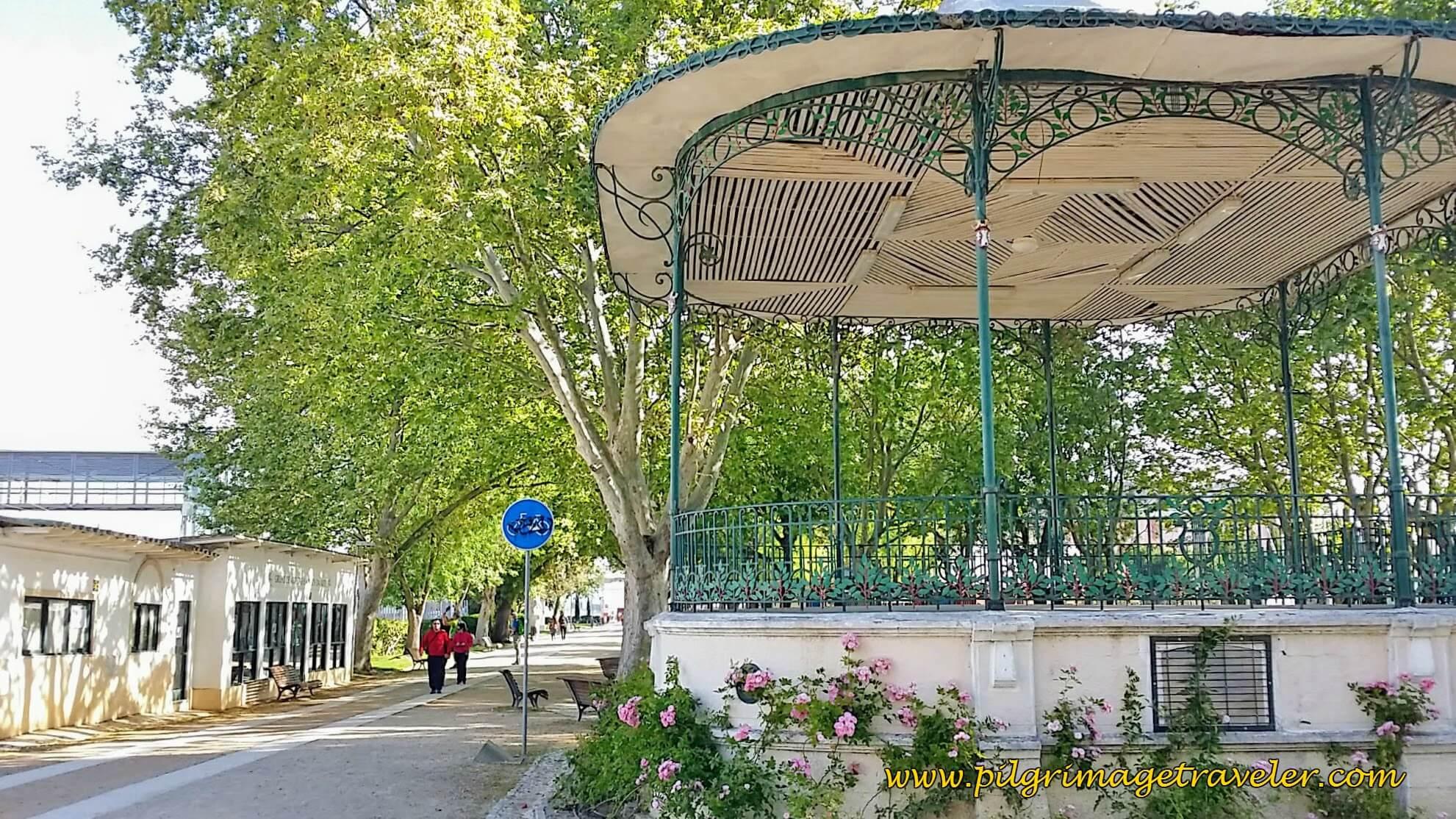 A Grand Stand at the the Park Jardim Municipal Constantino Palha, Vila Franca de Xira, Portugal