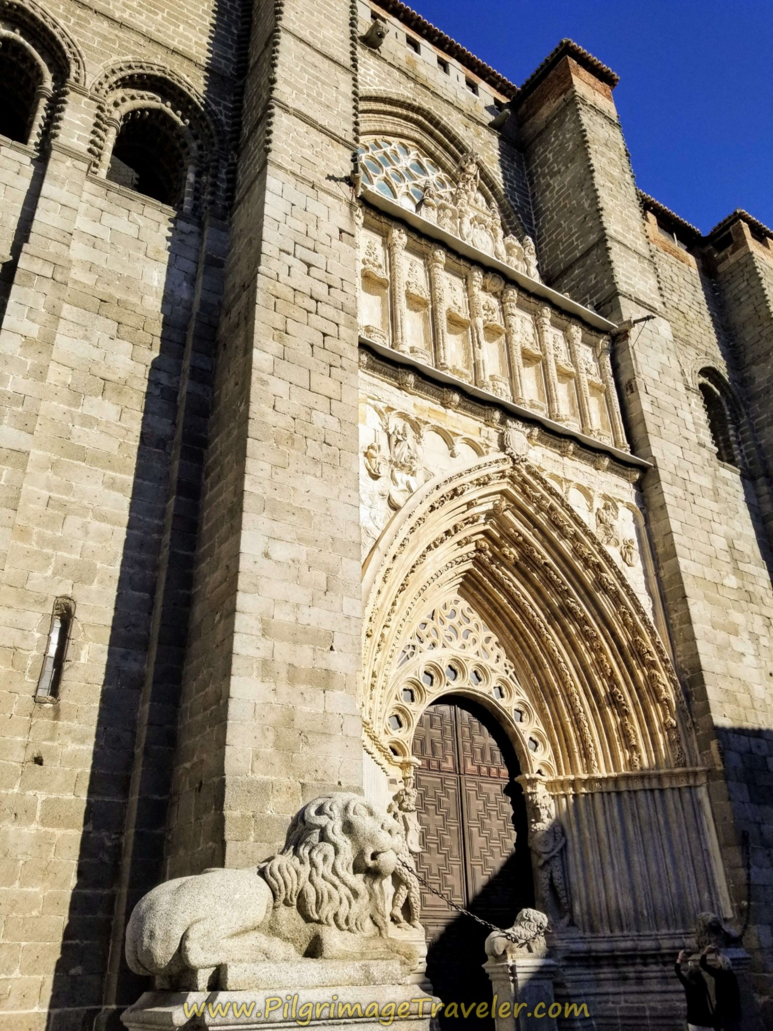 Lion's Flank the Entrance to the Cathedral